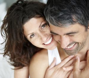 Close up of a romantic couple